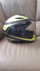 Scorpion Hi-Viz Motorcycle Helmet in excellent condition XL
