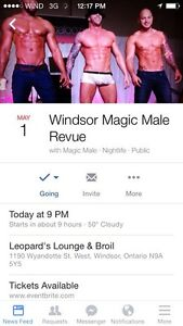 MAGIC MALE REVIEW TICKETS