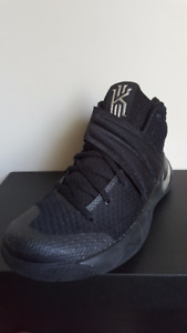 nike kyrie 2 ID black/silver basketball shoes