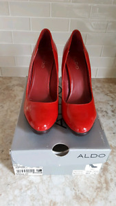 Red patent Aldo shoes