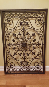 Large Metal Grate Decor