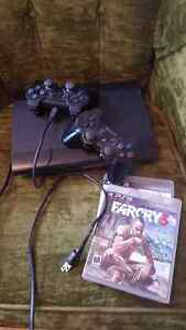 ps3, 2 controllers,  a few games