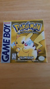 Pokemon yellow complet cib