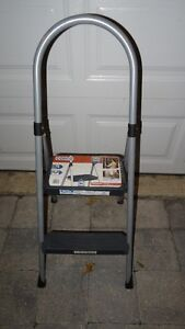 Two-Step Ladder - Cosco, Hooster, 200 lbs, Grey Steel Tub Frame