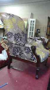 Beautiful antique newly reupholstered chair