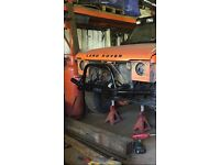 Land Rover discovery 1 heavy duty winch bumper