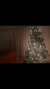 **Only Used ONCE**  Pre-lit 6.5 ft Christmas Tree for sale