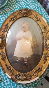 Antique Framed Baby Picture