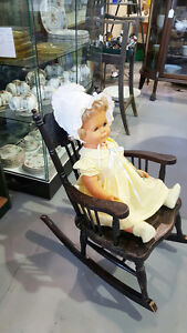 Antique Child's Press Back Rocking Chair