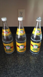 Set of 3 Vintage Canada Dry Tonic Water Bottles