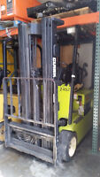 Clark 3 wheel electric forklift