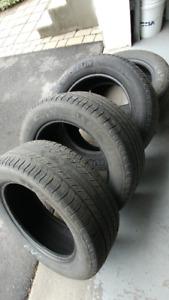 pneus 225/55 R18 Michelin (été) entre 3 et 4/32e