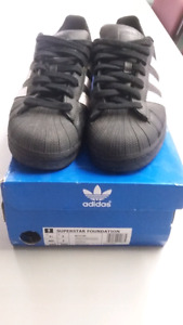 Adidas Black Superstars size 7.5