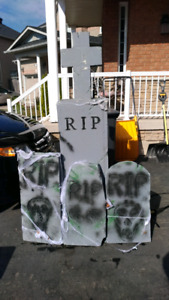 Hallowe'en tombstones REDUCED pre Halloween special