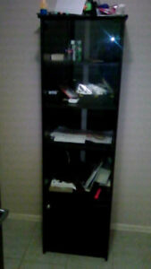 BEAUTIFUL SHOW CASE/DISPLAY/STORAGE SHELF, BLACK COLOR,