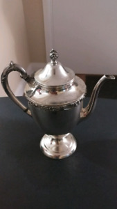 Silver Plated Tea Pot by Rosa Scroll