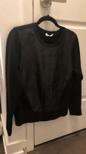 Alexander Wang Leather Sweater Size S