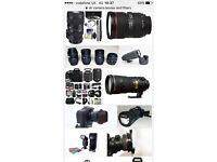 WANTED DSLR CAMERAS WITH LENSES AND MOBILE PHONES