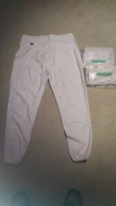 Russell Baseball Pants - Solid White - Qty.2 Size XLarge