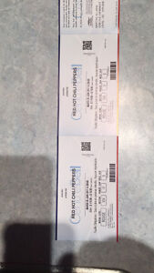 Deux billets pour les Red Hot Chili Peppers section 124 rouge