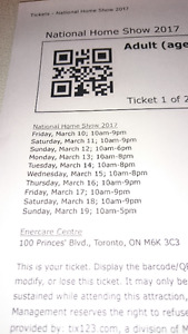 2 Adult Tickets for Canada Blooms & National Home Show