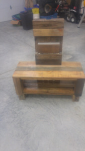 Pallet wood media console