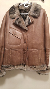 Leather jacket with shearling *******