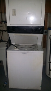 Free stacked washer and dryer