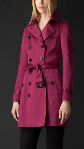 Burberry Prorsum Magenta Trench Coat