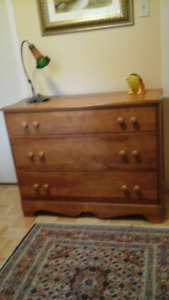 DRESSER w MIRROR 3 drawers REAL WOOD PERFECT CONDITION