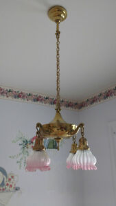 Brass kitchen lamp