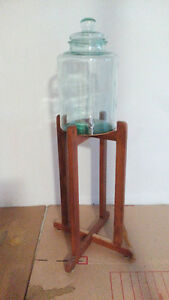Glass Water Bottles and Stands - Two Units