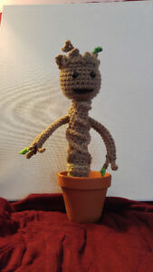 Hand Knitted Baby Groot
