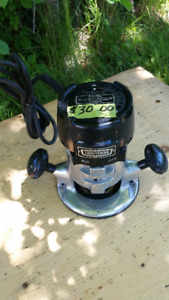 CRAFTSMAN ELECTRIC 1/4 INCH ROUTER--PRICE REDUCED