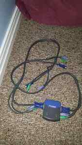 Linksys 2 port KVM switch with removable cables