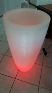 Large Color Changing Vase for Outdoor or Indoor