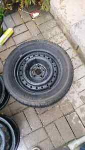 1 steel wheel and good tire for toyota celica