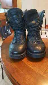 Military issue combat boots