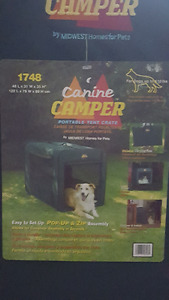 Canine Camper Two Door Portable Tent Crate - Ex Large!!