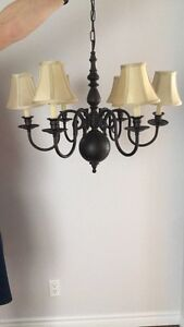 Black Brushed Oil Chandelier (Ceiling Light)