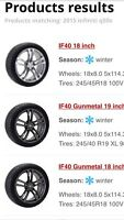 Infiniti Q50s, tires and wheels