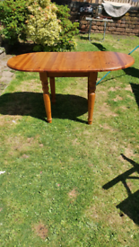 Small dining table. Proper wood