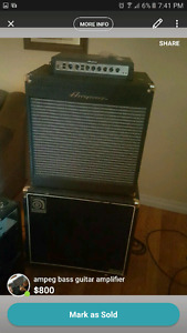 Ampeg pf500 bass head, 2x10 cab and 1x15 cab
