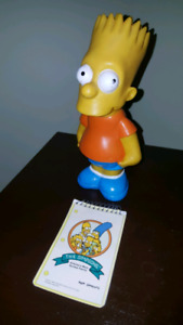 1990 collectors Simpsons notebook and Bart bank