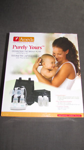 Ameda Purely Yours Double Electric Breast Pump w/ Extra Parts