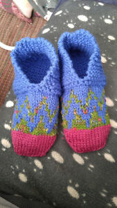 Womens handknitted slippers