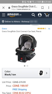 Graco SnugRide Click Connect 30 Infant Car Seat and Base