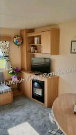 3 bedroomed caravan to rent on Presthaven Beach Resort