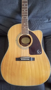 Epiphone Cutaway Acoustic Guitar with Electric Pickups/Tuner