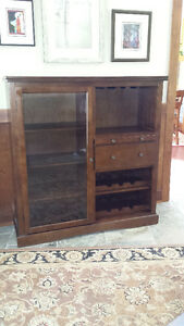 Solid wood china/display cabinet